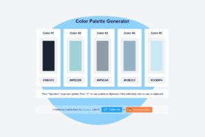 Read more about the article 線上調色盤工具 Color Palette Generator / 快速產生五個顏色